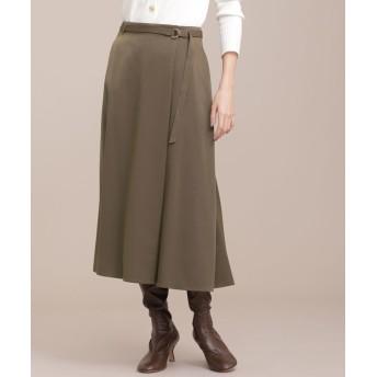サテンラップ風スカート 5000円以上送料無料【公式/ナノ・ユニバース】