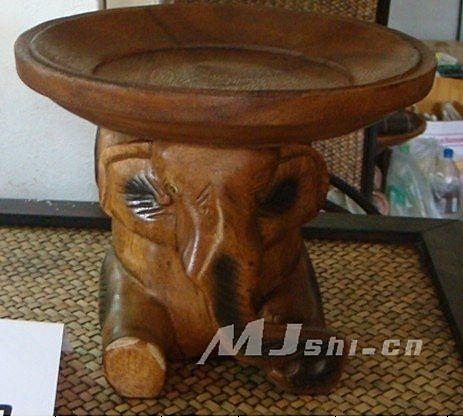 實木傢俱裝飾擺設 大象託盤