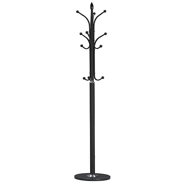 【森可家居】黑色烤漆衣架 8SB392-6 衣帽架 DIY 自行組裝