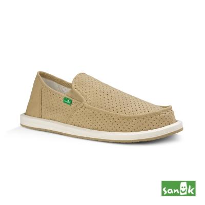 SANUK 帆布透氣懶人鞋-男款(米色)1013186 KHA