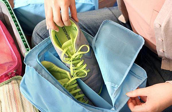 【超取399免運】韓版 防水鞋袋鞋盒 尼龍 收納袋 鞋袋鞋盒/收納包/旅行包