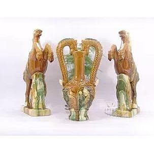 唐三彩 陶瓷工藝擺件