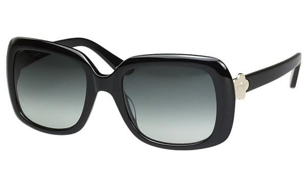【Juicy Couture】-方形時尚 太陽眼鏡(黑色)