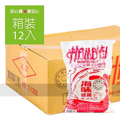 【海味】味精1000g,12包/箱,平均單價94.17元