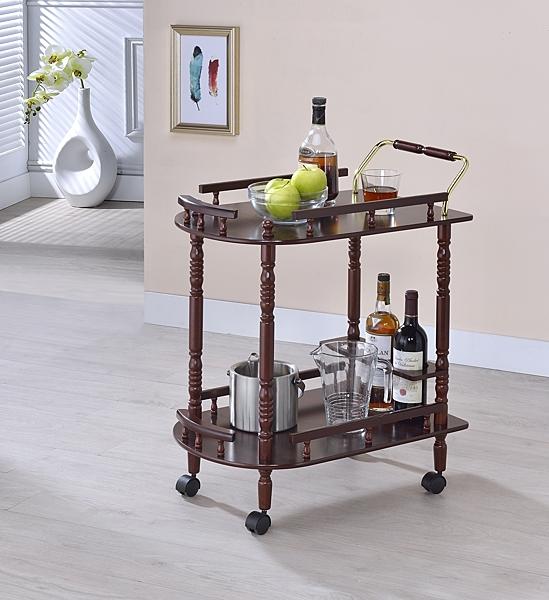 ONE HOUSE-DIY-典雅實木推車/邊桌/吧台車