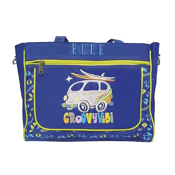 Backbager 背包族【ELLE Petite】 嘻彩小汽車系列補習袋/背包/購物袋_ 藍色