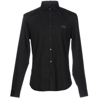 《セール開催中》LOVE MOSCHINO メンズ シャツ ブラック M コットン 97% / ポリウレタン 3%