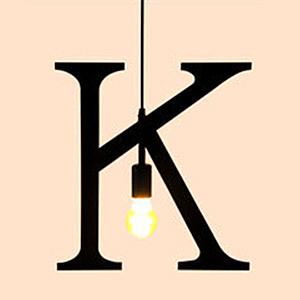 HONEY COMB 復古風英文字母吊燈 K版 TA0070