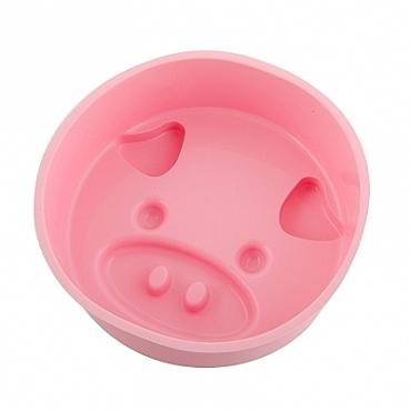 施理康SiliconeZone耐熱粉紅小豬造型矽膠小蛋糕模