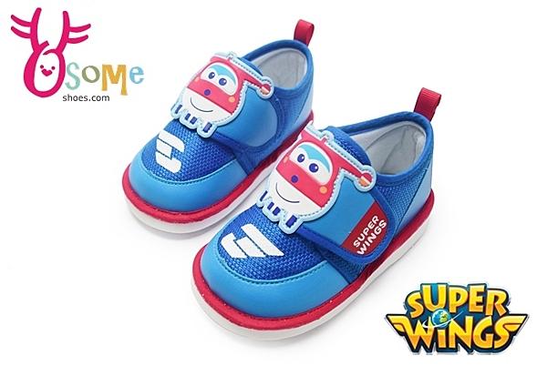 超級飛俠-杰特 學步鞋 嗶嗶鞋 台灣製 透氣 寶寶鞋F3027#藍◆OSOME奧森鞋業