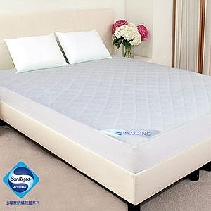 GALATEA 山寧泰防蟎抗菌系列竹炭雙人床包式保潔墊