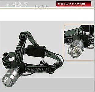 燈泡鋁合金3W頭燈
