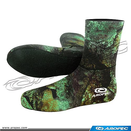 3mm Neoprene迷彩綠打獵潛水襪          SK-3D-3mmMG/SRP    【AROPEC】