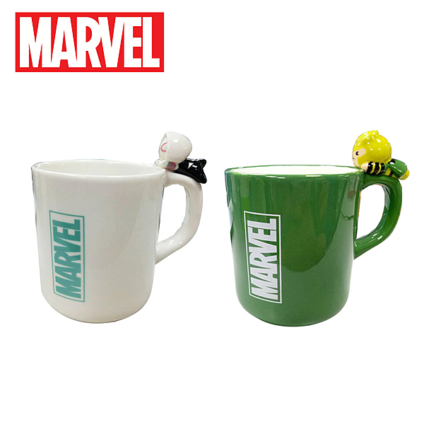 【日本正版】漫威英雄 趴姿造型 馬克杯 260ml 咖啡杯 復仇者聯盟 女蜘蛛人 洛基 MARVEL 247937 250326