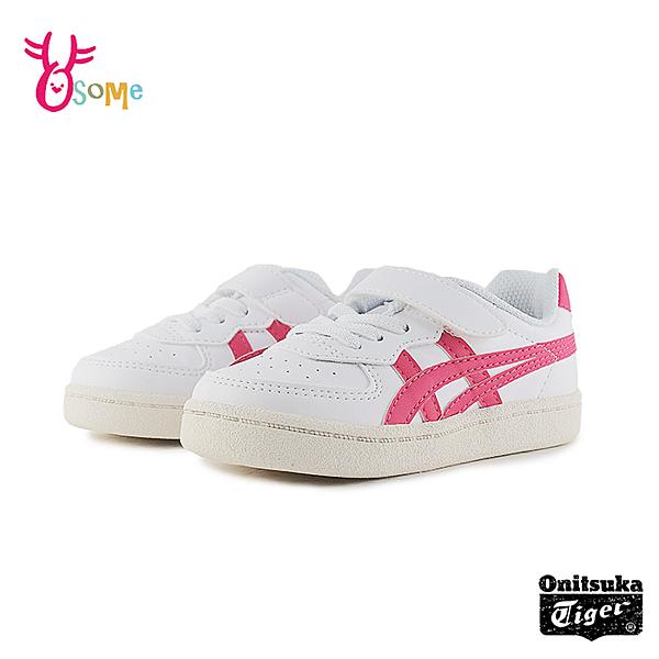 Asics童鞋 TIGER寶寶鞋 嬰兒鞋 女童板鞋 運動鞋 休閒鞋 學步鞋 皮革 A9149#白粉◆OSOME奧森鞋業