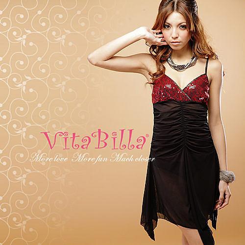 【伊莉婷】VitaBilla 熱夜情人 LUCKMATE 魅力四射 睡裙+小褲 二件組