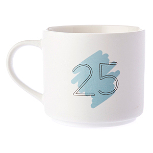 HOLA 數字馬克杯 25號 380ml 25th Twenty-fifth