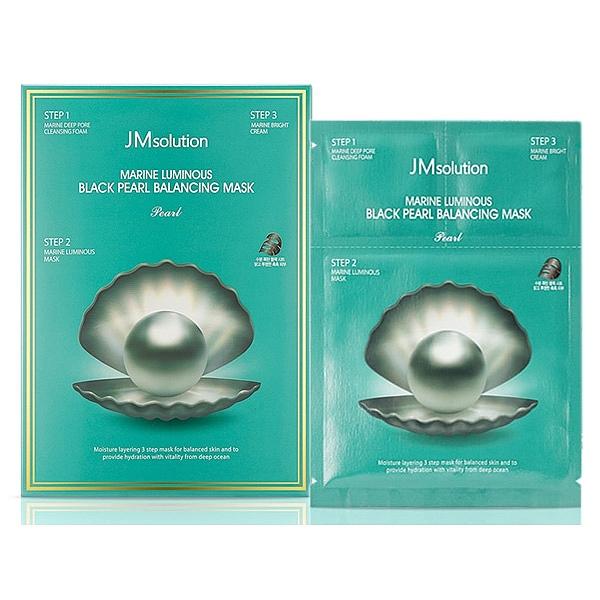 韓國 JMsolution 海洋黑珍珠平衡三步曲面膜(10片入)【小三美日】