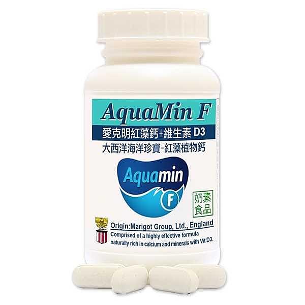 赫而司 愛爾蘭Aquamin-F愛克明紅藻植物鈣+維生素D3 1罐60錠 x 2罐