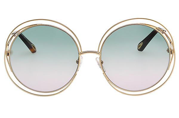 CHLOE太陽眼鏡 金色 CE114SD 大面版