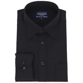 黒ワイシャツ 長袖 黒シャツ 形態安定 メンズ 1枚 NB07 スリム&ゆったり 6Lサイズ
