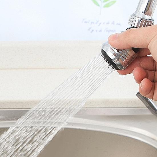 水龍頭 噴頭 延伸 節水器 省水 萬向噴頭 過濾器 軟管 防濺水龍頭節水器(短款)【P207】慢思行