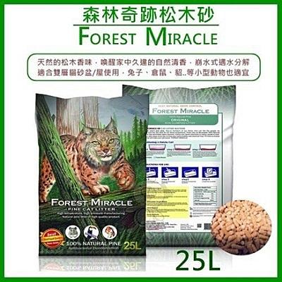 『寵喵樂旗艦店』森林奇跡ForestMiracle《天然松木砂》25磅
