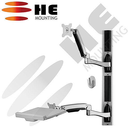 HE 鉅? 複合式工作站-螢幕雙臂/適用2-10公斤 H8822W