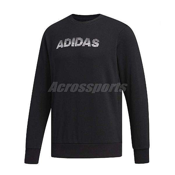 adidas 長袖T恤 AI GFX CS LNG 黑 白 男款 大學T 運動休閒 【ACS】 FJ0239
