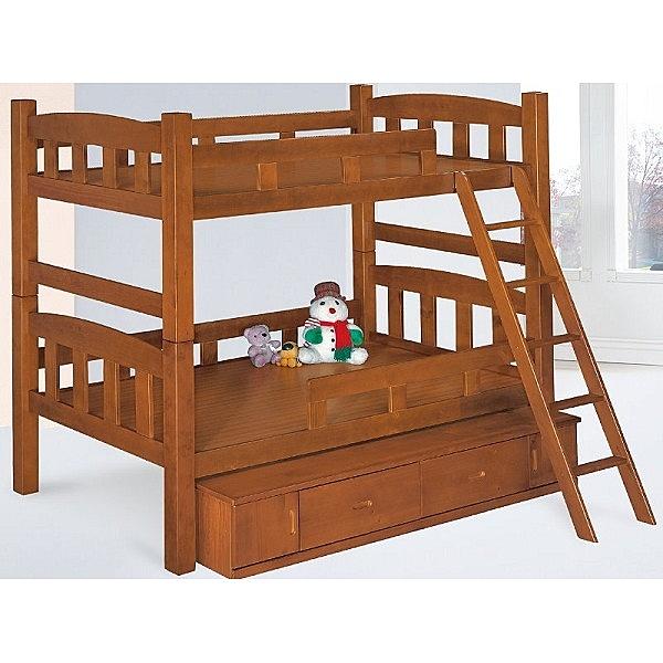 雙層床 PK-182-4A 凱特柚木色3.5尺雙層床 (不含床墊) 【大眾家居舘】