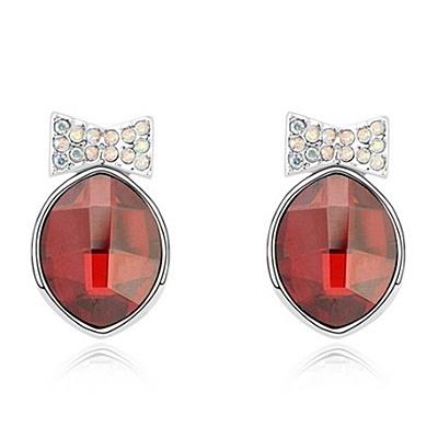 水晶耳環 925純銀耳針式-鑲鑽可愛生日情人節禮物女飾品4色73bd240【時尚巴黎】