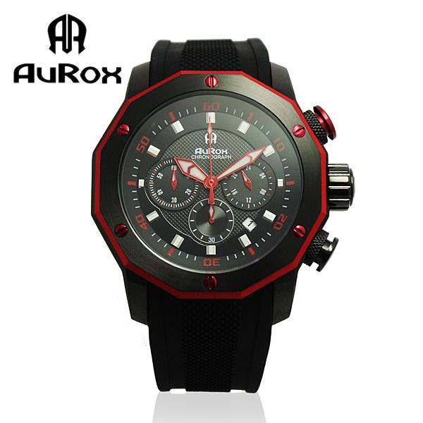 AuRox歐銳時 城市菁英三眼計時不銹鋼石英錶(AR295-時尚紅) 原價15800