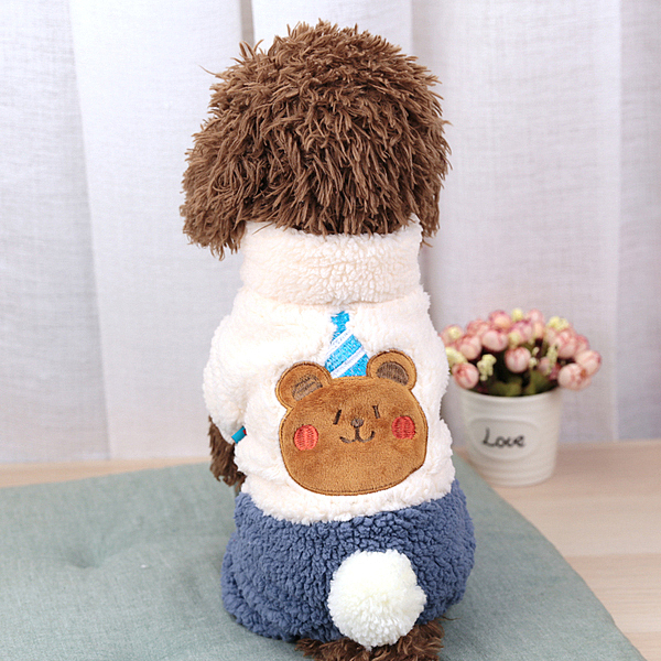 卡通變身裝寵物冬裝小狗狗衣服秋冬裝羊羔絨泰迪貴賓小型犬帶扣款 店慶降價