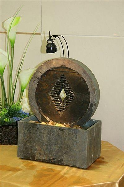銅錢流水 噴泉 加濕器 擺件 工藝品  現代田園