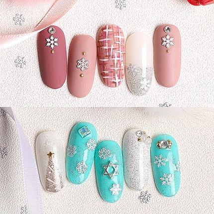 雪花片混裝美甲雪花貼紙貼花秋冬新款指甲飾品貼花