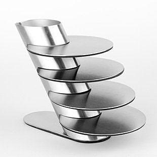 不鏽鋼+防滑墊 工藝杯墊架