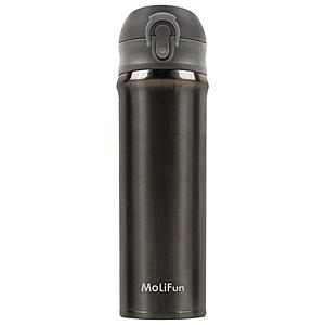 MoliFun魔力坊 316輕量真空彈蓋杯保冰保溫杯500ml-銀河灰