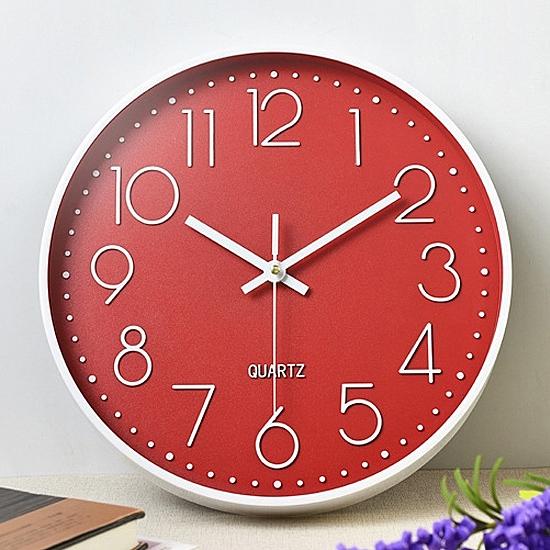 時鐘  大字體 石英鐘 靜音鐘 客廳 立體數字刻度錶 壁鐘 電池  圓形 靜音 掛鐘【G011】慢思行