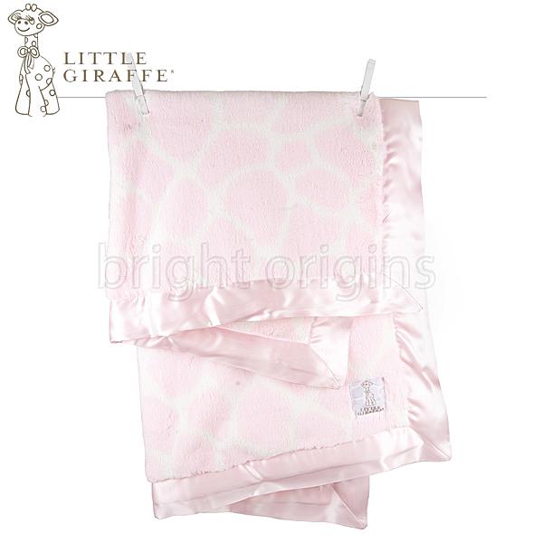 Little Giraffe 豪華長頸鹿紋嬰兒毯 粉色