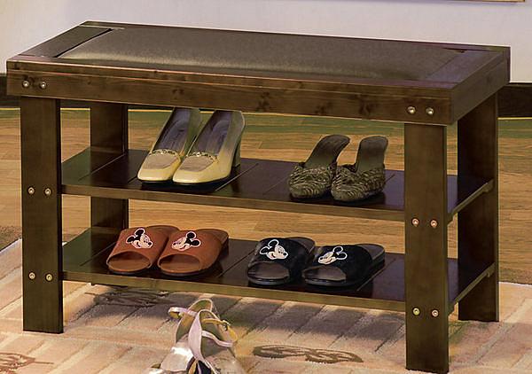 [ 家事達] TMT 豐采皮面實木穿鞋櫃椅 (TGB-016)