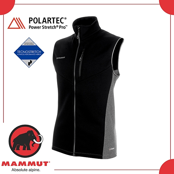 【MAMMUT Aconcagua ML Vest 男《黑》】1014-00330-00205/保暖/中層/背心/快乾/耐磨