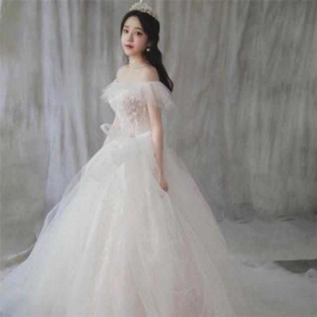 ウェディングドレス エンパイア 二次会ドレス 花嫁ドレス  大きいサイズ パーティー ロングドレス 演奏会 イブニングドレス カラー