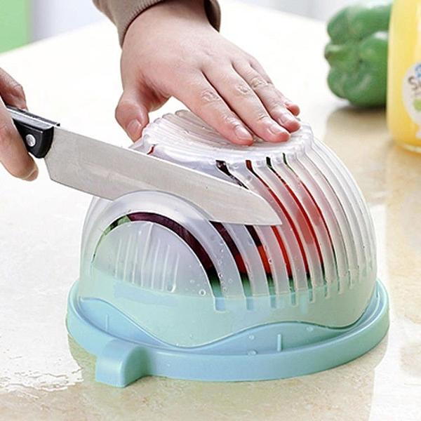 蔬菜水果沙拉切割碗切沙拉果蔬分割器