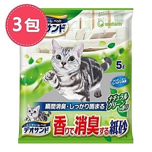 【Unicharm】日本消臭大師強力消臭紙砂-森林香5LX3包