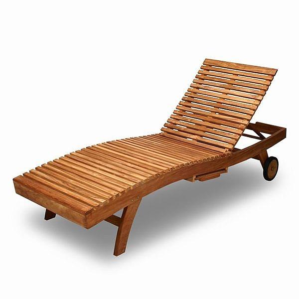 BROTHER 兄弟牌印尼柚木普吉島二節式躺椅