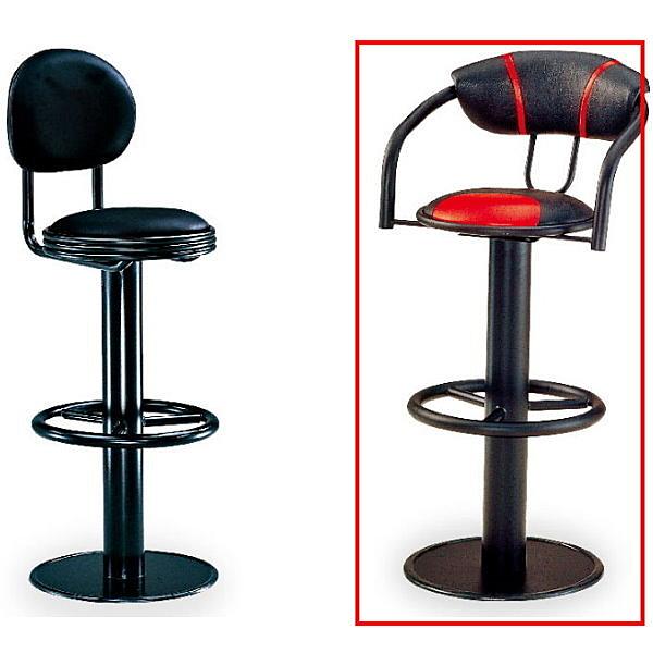 吧檯椅 FB-851-3 高吧椅 (黑紅皮)【大眾家居舘】
