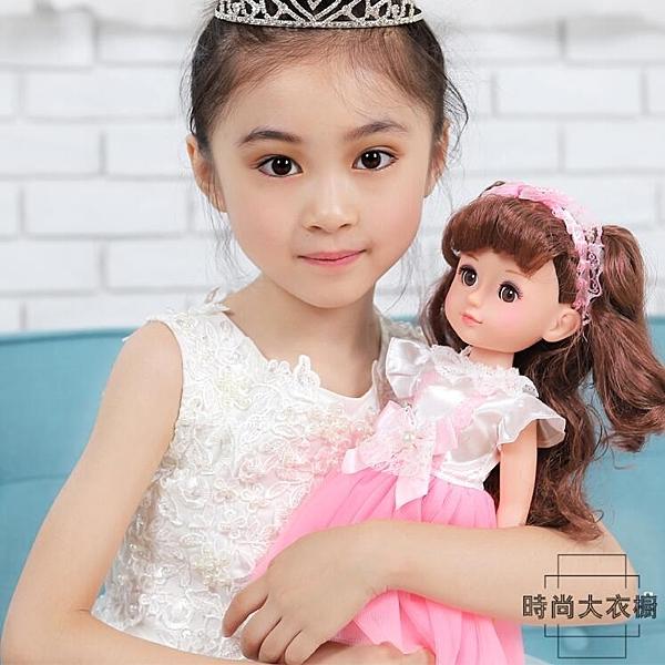 會說話的智能芭比洋娃娃套裝仿真公主兒童玩具【時尚大衣櫥】
