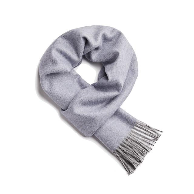 Alpaka 30x200cm 極致魚骨紋系列 素面單色 羊駝毛 超輕量 圍巾  2019 秋冬仕樣 藍色迷情