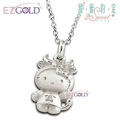 Hello Kitty凱蒂貓 ♥金牛座(4/20~5/20)♥ 星座銀飾墜子