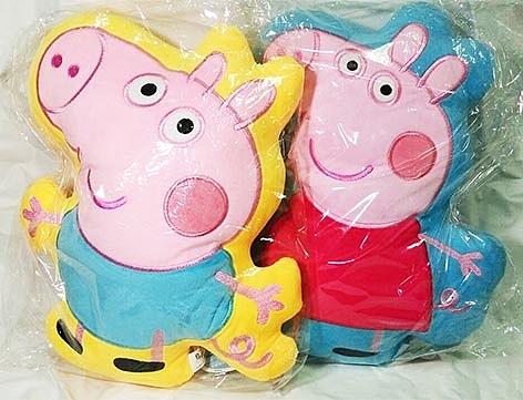 正版授權(Peppa Pig)佩佩豬造型抱枕~粉紅豬小妹~(1入)《刷卡分期+免運費》